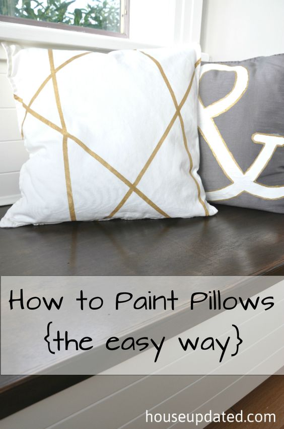 DIY Pillowcases - Painted Pillowcases - Easy Sewing Projects for Pillows - Bedroom and Home Decor Ideas - Sewing Patterns and Tutorials - No Sew Ideas - DIY Projects and Crafts for Women #sewing #diydecor #pillows