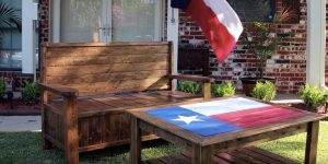 How To Build A Super Cool Pallet Bench With Hidden Storage!