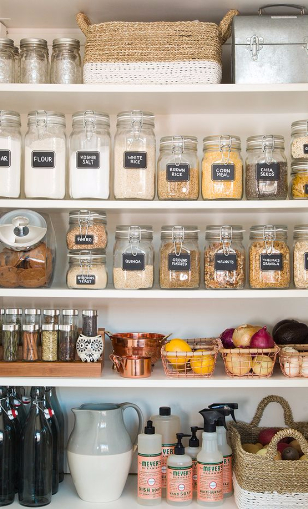 DIY Organizing Ideas for Kitchen - Pantry Organization For The New Year - Cheap and Easy Ways to Get Your Kitchen Organized - Dollar Tree Crafts, Space Saving Ideas - Pantry, Spice Rack, Drawers and Shelving - Home Decor Projects for Men and Women #diykitchen #organizing #diyideas #diy