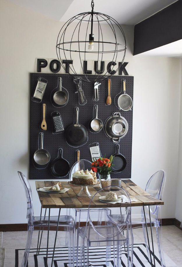 DIY Organizing Ideas for Kitchen - Pegboard Organization As Wall Decor - Cheap and Easy Ways to Get Your Kitchen Organized - Dollar Tree Crafts, Space Saving Ideas - Pantry, Spice Rack, Drawers and Shelving - Home Decor Projects for Men and Women #diykitchen #organizing #diyideas #diy