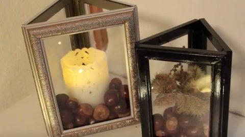 Dollar Store DIY: Picture Frame Lanterns | DIY Joy Projects and Crafts Ideas