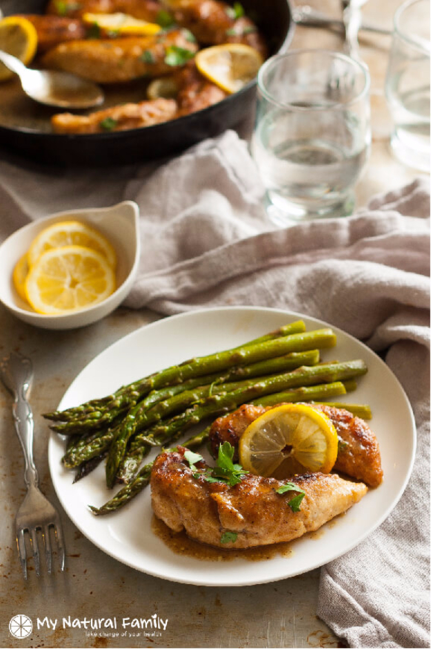 Quick and Healthy Dinner Recipes - Quick Simple Pan Fried Gluten Free Lemon Chicken - Easy and Fast Recipe Ideas for Dinners at Home - Chicken, Beef, Ground Meat, Pasta and Vegetarian Options - Cheap Dinner Ideas for Family, for Two , for Last Minute Cooking #recipes #healthyrecipes