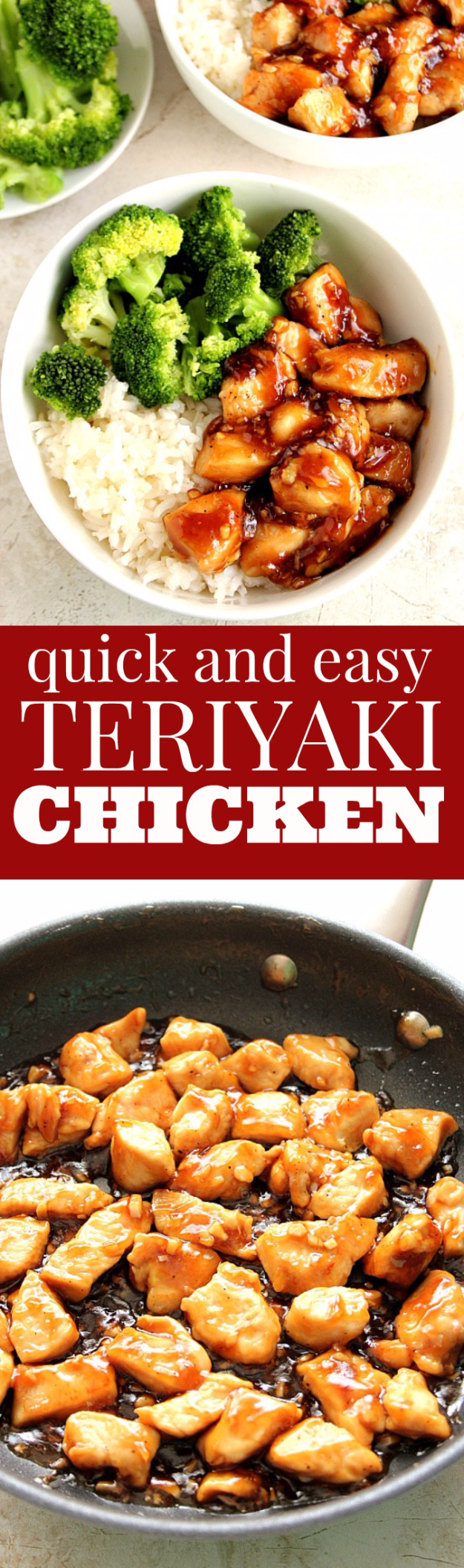 Quick and Healthy Dinner Recipes - Quick Teriyaki Chicken Rice Bowls - Easy and Fast Recipe Ideas for Dinners at Home - Chicken, Beef, Ground Meat, Pasta and Vegetarian Options - Cheap Dinner Ideas for Family, for Two , for Last Minute Cooking #recipes #healthyrecipes