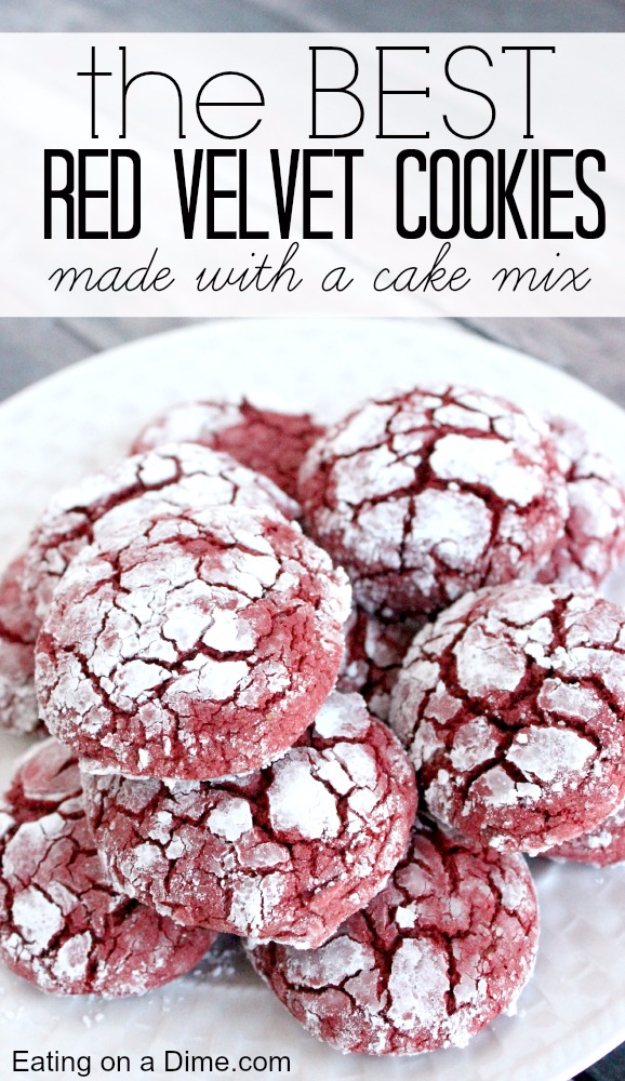 DIY Valentines Day Cookies - Red Velvet Cookies Recipe - Easy Cookie Recipes and Recipe Ideas for Valentines Day - Cute DIY Decorated Cookies for Kids, Homemade Box Cookies and Bouquet Ideas - Sugar Cookie Icing Tutorials With Step by Step Instructions - Quick, Cheap Valentine Gift Ideas for Him and Her http://diyjoy.com/diy-valentines-day-cookie-recipes