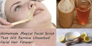 She Makes An Amazing Facial Scrub That Will Remove Unwanted Facial Hair Forever!
