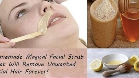 She Makes An Amazing Facial Scrub That Will Remove Unwanted Facial Hair Forever! | DIY Joy Projects and Crafts Ideas