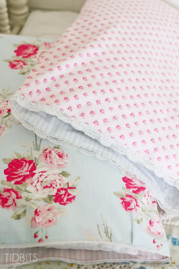 DIY Pillowcases - Reversible Pillowcase - Easy Sewing Projects for Pillows - Bedroom and Home Decor Ideas - Sewing Patterns and Tutorials - No Sew Ideas - DIY Projects and Crafts for Women #sewing #diydecor #pillows