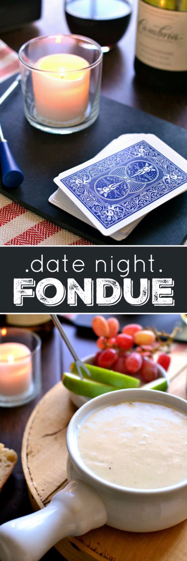 DIY Date Night Ideas - Romantic Fondue Date Night - Creative Ways to Go On Inexpensive Dates - Creative Ways for Couples to Spend Time Together creative date nights diy idea