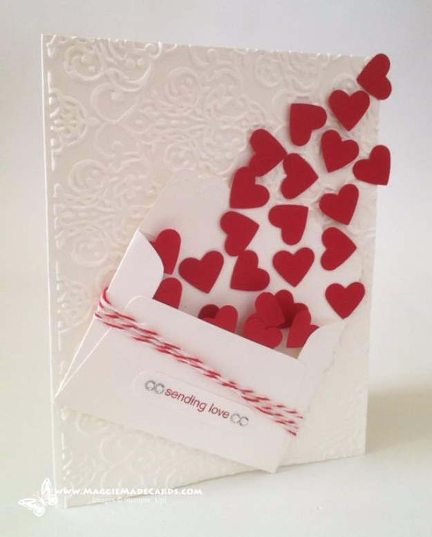 DIY Valentines Day Cards - Sending Love Card - Easy Handmade Cards for Him and Her, Kids, Freinds and Teens - Funny, Romantic, Printable Ideas for Making A Unique Homemade Valentine Card - Step by Step Tutorials and Instructions for Making Cute Valentine's Day Gifts #valentines