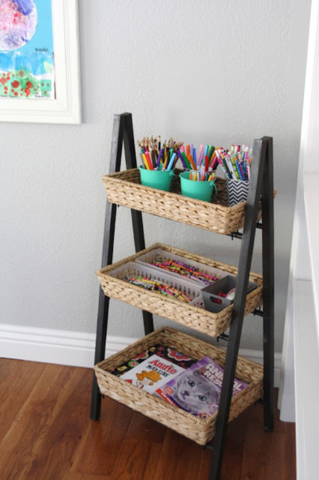 DIY Organizing Ideas for Kids Rooms - Simple And Organized Children's Art Supplies - Easy Storage Projects for Boy and Girl Room - Step by Step Tutorials to Get Toys, Books, Baby Gear, Games and Clothes Organized #diy #kids #organizing