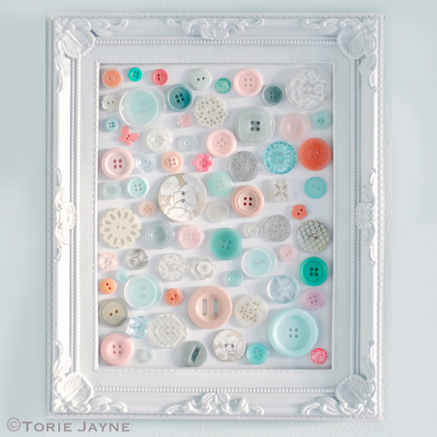 DIY Projects and Crafts Made With Buttons - Simple Button Art - Easy and Quick Projects You Can Make With Buttons - Cool and Creative Crafts, Sewing Ideas and Homemade Gifts for Women, Teens, Kids and Friends - Home Decor, Fashion and Cheap, Inexpensive Fun Things to Make on A Budget
