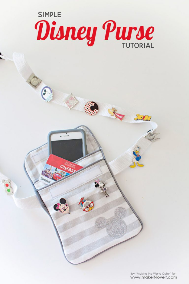DIY Purses and Handbags - Simple Disney Purse - Homemade Projects to Decorate and Make Purses - Add Paint, Glitter, Buttons and Bling To Your Hand Bags and Purse With These Easy Step by Step Tutorials - Boho, Modern, and Cool Fashion Ideas for Women and Teens #purses #diyclothes #handbags