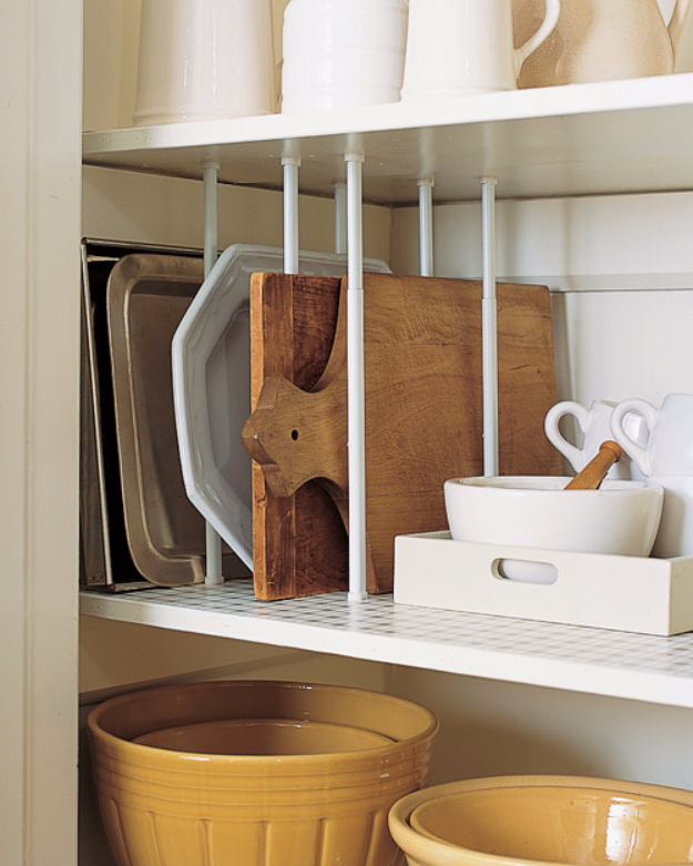 DIY Organizing Ideas for Kitchen - Simple Pantry Organizer - Cheap and Easy Ways to Get Your Kitchen Organized - Dollar Tree Crafts, Space Saving Ideas - Pantry, Spice Rack, Drawers and Shelving - Home Decor Projects for Men and Women #diykitchen #organizing #diyideas #diy