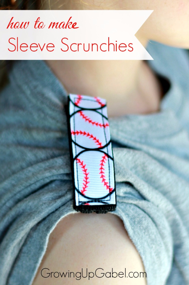 DIY Projects for the Sports Fan - Sports Themed Sleeve Scrunchies - Crafts and DIY Ideas for Men - Football, Baseball, Basketball, Soccer and Golf - Wall Art, DIY Gifts, Easy Gift Ideas, Room and Home Decor http://diyjoy.com/diy-ideas-sports-fan
