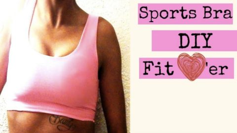 Sports Bras Are The Rage Now But They're Expensive And This One Is So Easy You Won't Believe It! | DIY Joy Projects and Crafts Ideas