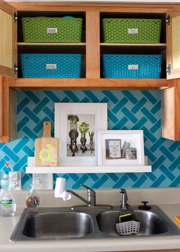 DIY Organizing Ideas for Kitchen - Storage For Little Upper Cabinets - Cheap and Easy Ways to Get Your Kitchen Organized - Dollar Tree Crafts, Space Saving Ideas - Pantry, Spice Rack, Drawers and Shelving - Home Decor Projects for Men and Women #diykitchen #organizing #diyideas #diy