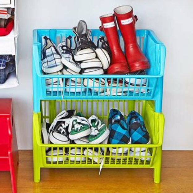 DIY Organizing Ideas for Kids Rooms - Store More Shoes - Easy Storage Projects for Boy and Girl Room - Step by Step Tutorials to Get Toys, Books, Baby Gear, Games and Clothes Organized #diy #kids #organizing