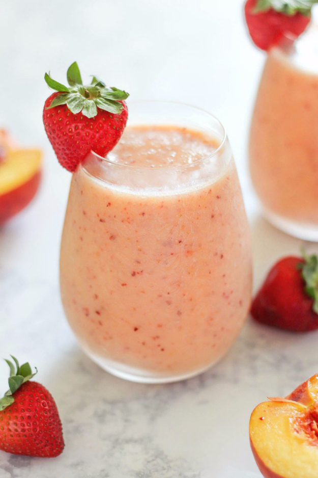 Healthy Smoothie Recipes - Strawberry Peach Smoothie - Easy ideas ...