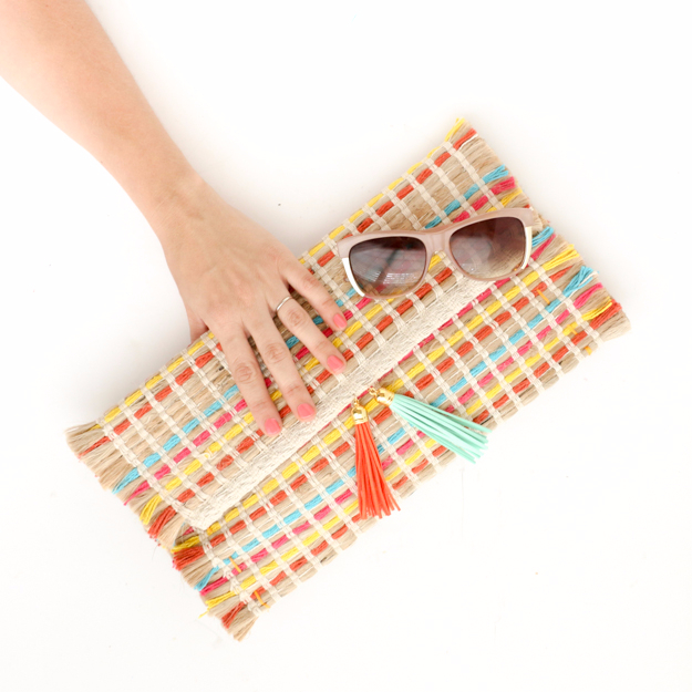 DIY Purses and Handbags - Summer Clutch DIY - Homemade Projects to Decorate and Make Purses - Add Paint, Glitter, Buttons and Bling To Your Hand Bags and Purse With These Easy Step by Step Tutorials - Boho, Modern, and Cool Fashion Ideas for Women and Teens #purses #diyclothes #handbags