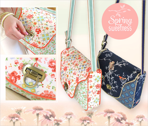 DIY Purses and Handbags - Sweet Quilted Front Flap Purse with Decorative Lock - Homemade Projects to Decorate and Make Purses - Add Paint, Glitter, Buttons and Bling To Your Hand Bags and Purse With These Easy Step by Step Tutorials - Boho, Modern, and Cool Fashion Ideas for Women and Teens #purses #diyclothes #handbags