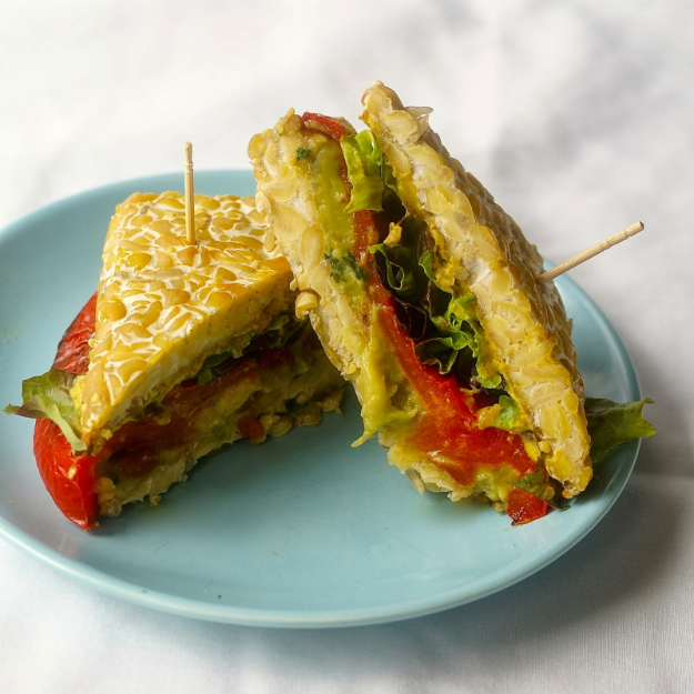Healthy Lunch Ideas for Work - Tempeh Bread Kitchen Sink Sandwich - Quick and Easy Recipes You Can Pack for Lunches at the Office - Lowfat and Simple Ideas for Eating on the Job - Microwave, No Heat, Mason Jar Salads, Sandwiches, Wraps, Soups and Bowls