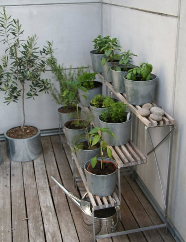 DIY Ideas for the Outdoors - Terraced Herb Garden - Best Do It Yourself Ideas for Yard Projects, Camping, Patio and Spending Time in Garden and Outdoors - Step by Step Tutorials and Project Ideas for Backyard Fun, Cooking and Seating #diy