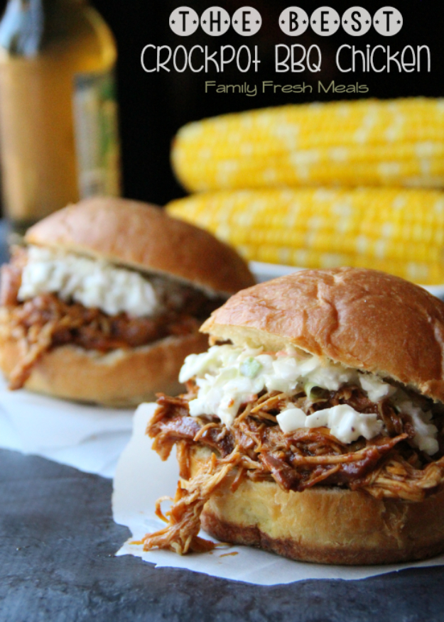 Healthy Lunch Ideas for Work - The Best Crockpot BBQ Chicken - Quick and Easy Recipes You Can Pack for Lunches at the Office - Lowfat and Simple Ideas for Eating on the Job - Microwave, No Heat, Mason Jar Salads, Sandwiches, Wraps, Soups and Bowls