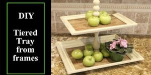 Watch This Ingenious Tiered Tray She Makes With Picture Frames And Pallet Wood!