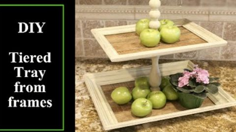 Watch This Ingenious Tiered Tray She Makes With Picture Frames And Pallet Wood! | DIY Joy Projects and Crafts Ideas