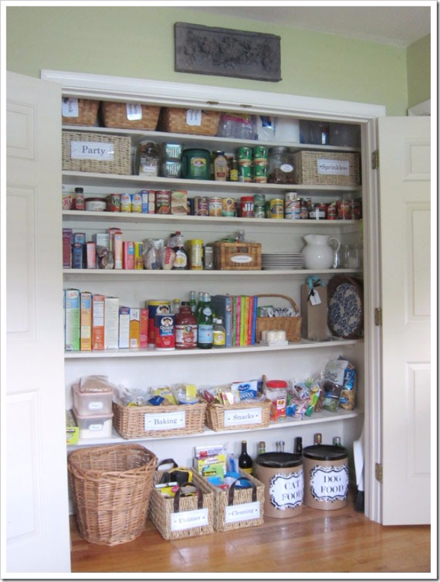 DIY Organizing Ideas for Kitchen - Transform A Coat Closet Into A Pantry - Cheap and Easy Ways to Get Your Kitchen Organized - Dollar Tree Crafts, Space Saving Ideas - Pantry, Spice Rack, Drawers and Shelving - Home Decor Projects for Men and Women http://diyjoy.com/diy-organizing-ideas-kitchen