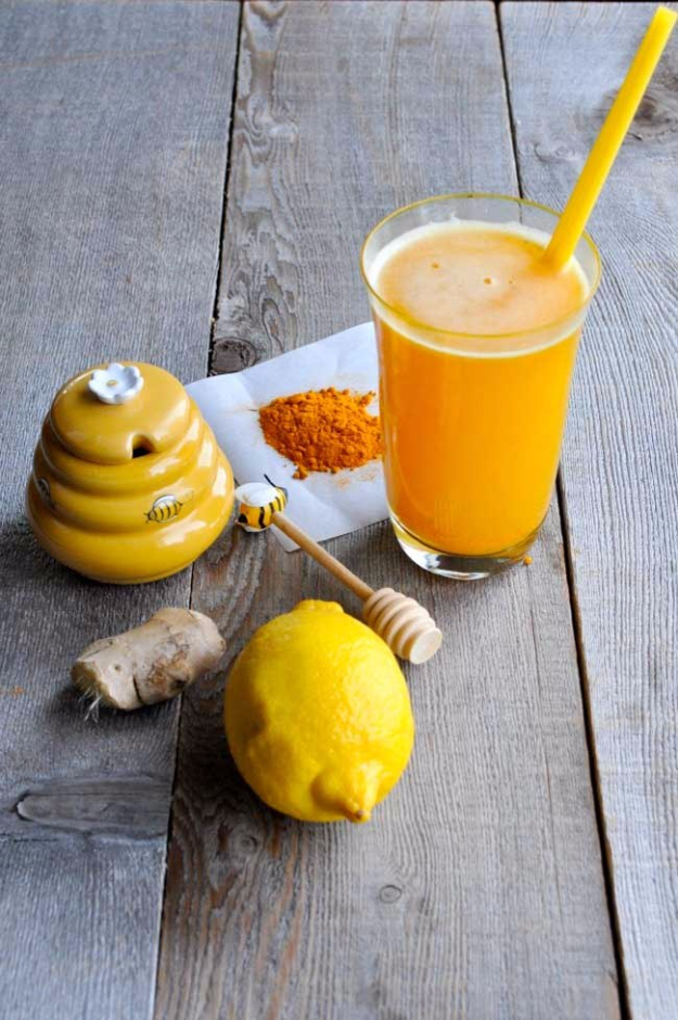 Best DIY Detox Waters and Recipes - Turmeric Pick Me Up - Homemade Detox Water Instructions and Tutorials - Lose Weight and Remove Toxins From the Body for Your New Years Resolutions - Easy and Quick Recipe Ideas for Getting Healthy in 2017 - DIY Projects and Crafts by DIY Joy