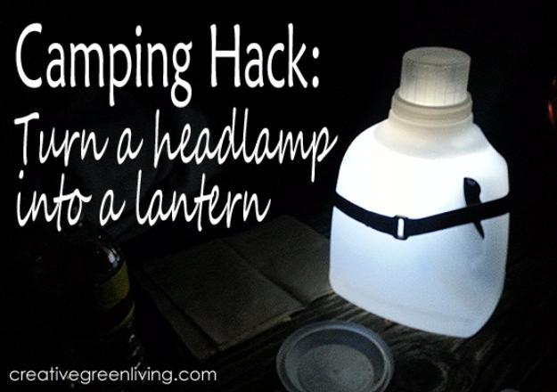 Turn A Headlamp Into A Lantern