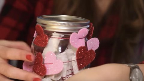 She Decorates A Mason Jar With Sparkling Hearts But What's Inside Is The Best Surprise Of All! | DIY Joy Projects and Crafts Ideas