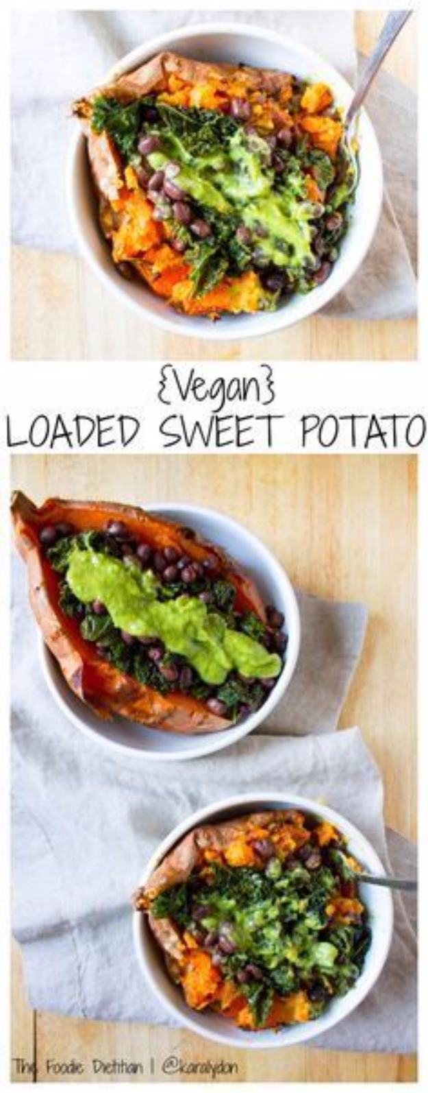 Quick and Healthy Dinner Recipes - Vegan Loaded Sweet Potato - Easy and Fast Recipe Ideas for Dinners at Home - Chicken, Beef, Ground Meat, Pasta and Vegetarian Options - Cheap Dinner Ideas for Family, for Two , for Last Minute Cooking #recipes #healthyrecipes