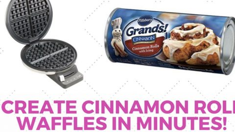 Make Killer Cinnamon Rolls On Your Waffle Iron Quick! | DIY Joy Projects and Crafts Ideas