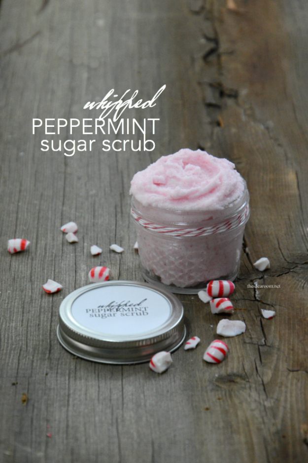 DIY Sugar Scrub Recipes - Whipped Peppermint Sugar Scrub Recipe - Easy and Quick Beauty Products You Can Make at Home - Cool and Cheap DIY Gift Ideas for Homemade Presents Women, Girls and Teens Love - Natural Recipe Ideas for Making Sugar Scrub With Step by Step Tutorials