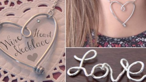 Look How She Makes A Fascinating Wire Heart And Just In Time For Valentines Day!   DIY Joy Projects and Crafts Ideas