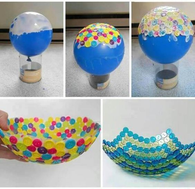 DIY Projects and Crafts Made With Buttons - Wonderful DIY Cute Button Bowl- Easy and Quick Projects You Can Make With Buttons - Cool and Creative Crafts, Sewing Ideas and Homemade Gifts for Women, Teens, Kids and Friends - Home Decor, Fashion and Cheap, Inexpensive Fun Things to Make on A Budget