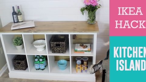 How to Build A Kitchen Island From An Ikea Shelving Unit   DIY Joy Projects and Crafts Ideas
