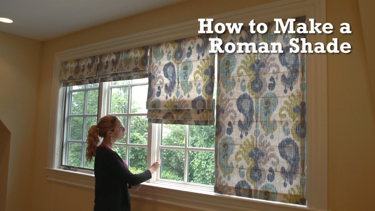 How To Make Roman Shades For Windows And Even Doors