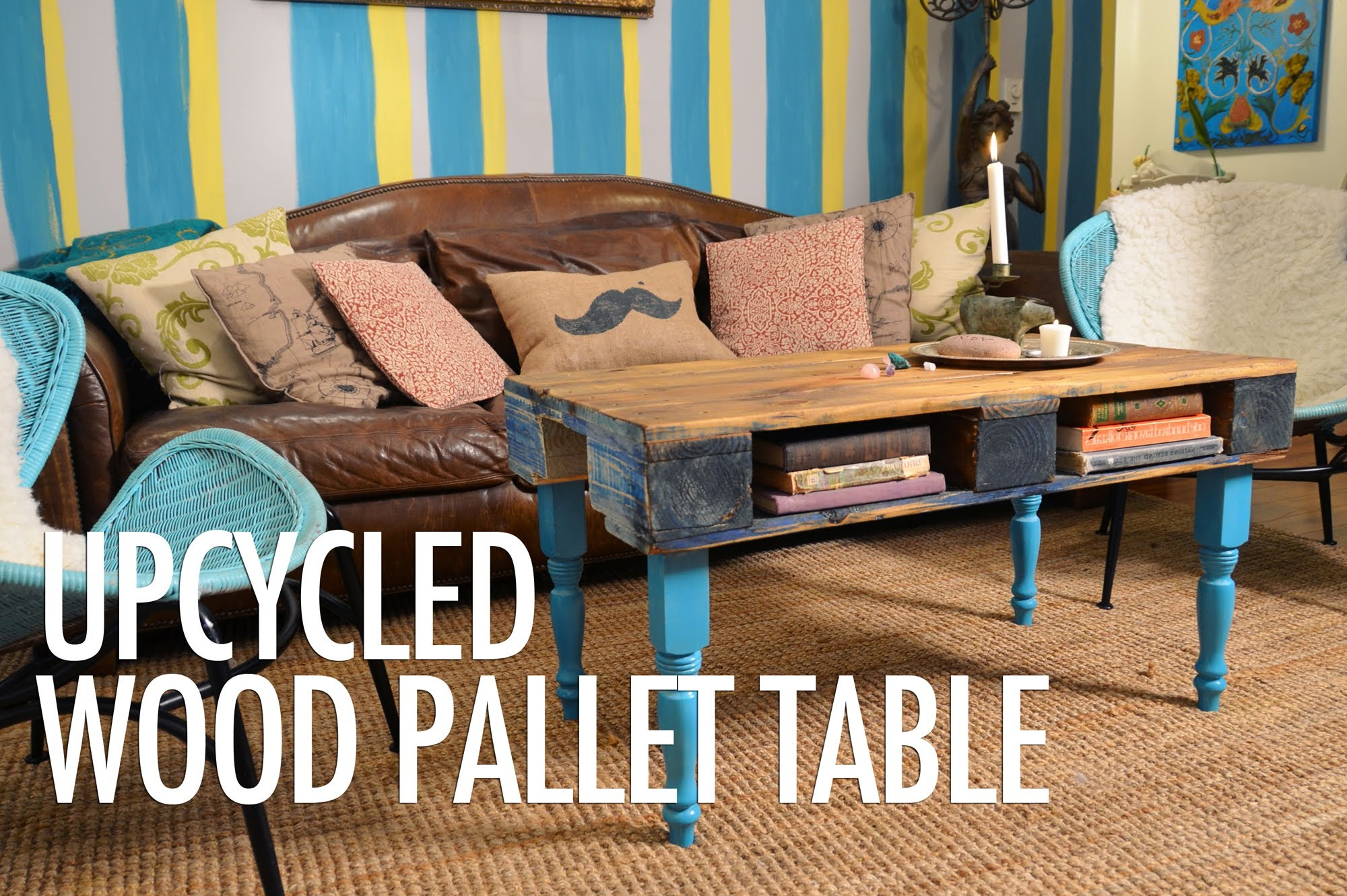 Watch How She Makes An Awesome Pallet Coffee Table For A Stylish Eclectic Look