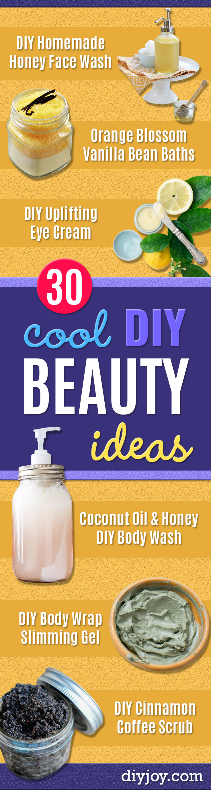 DIY Beauty Ideas and Recipes for Products You Can Make At Home -Easy Tutorials and Recipe Ideas for Face, Skin, Hair, Makeup, Lips - 3 Ingredient, Coconut Oil, Cheap Knock Offs, Baking Soda and Natural Product - Cool Homemade Gifts for Teens and Women