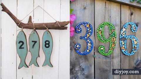 35 Creative DIY House Numbers That Are Better Than Anything You Could Ever Buy | DIY Joy Projects and Crafts Ideas