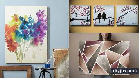 Painting Ideas - 36 Easy DIY Canvas Paintings to Make Art at ...
