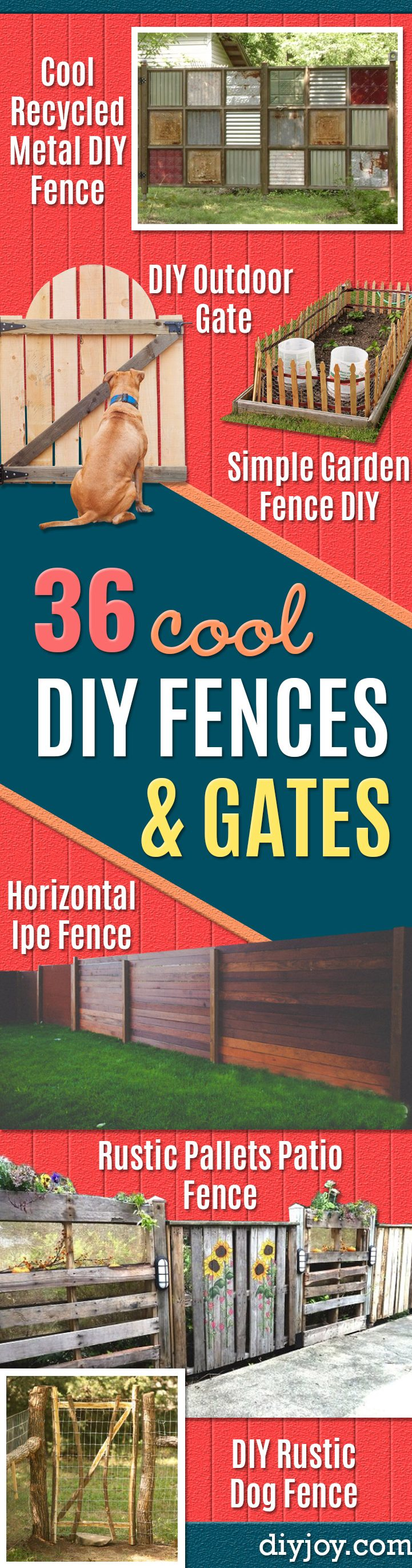 DIY Fences and Gates - How To Make Easy Fence and Gate Project for Backyard and Home - Step by Step Tutorial and Ideas for Painting, Updating and Making Fences and DIY Gate - Cool Outdoors and Yard Projects gates