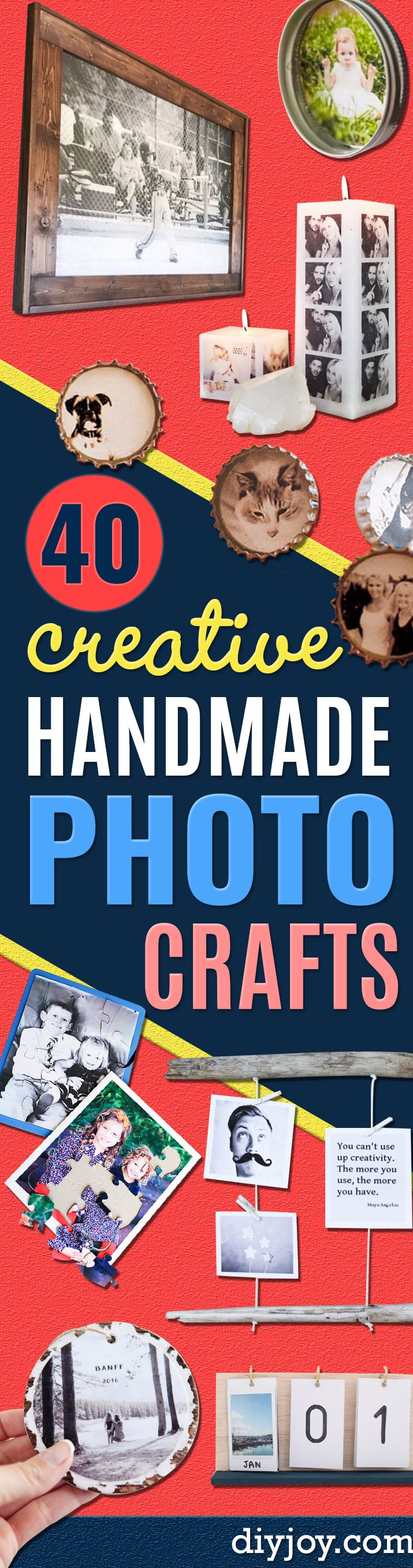 DIY Photo Crafts and Projects for Pictures - Handmade Picture Frame Ideas and Step by Step Tutorials for Making Cool DIY Gifts and Home Decor - Cheap and Easy Photo Frames, Creative Ways to Frame and Mount Photos on Canvas and Display Them In Your House