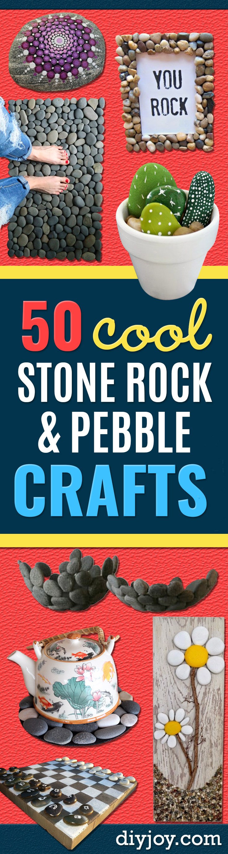 rock craft ideas -Pebble and Stone Crafts - DIY Ideas Using Rocks, Stones and Pebble Art - Mosaics, Craft Projects, Home Decor and DIY Gifts You Can Make On A Budget