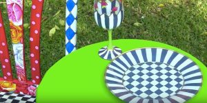 He Transforms Clear Dollar Store Plates Into Alice In Wonderland Magic!