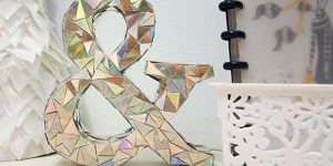 Watch How She Makes This Amazing DIY Mosaic Letter from Old CD's And Cereal Boxes!