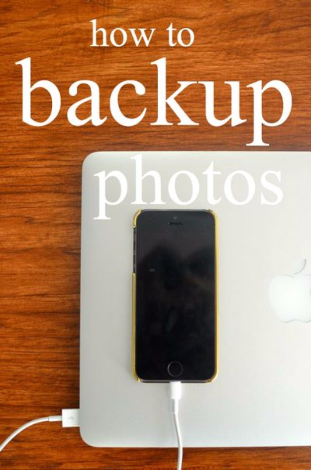 DIY Phone Hacks - Back Up Your Photos - Cool Tips and Tricks for Phones, Headphones and iPhone How To - Make Speakers, Change Settings, Know Secrets You Can Do With Your Phone By Learning This Cool Stuff - DIY Projects and Crafts for Men and Women http://diyjoy.com/diy-iphone-hacks